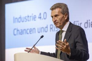 Redner Günther Oettinger
