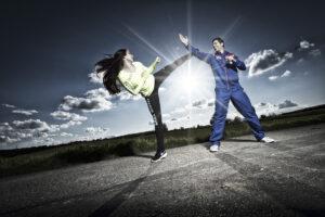 Sportler beim Kampfsport
